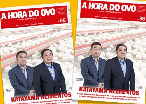 Katayama Alimentos é a capa e matéria especial da edição 98 da A Hora do Ovo